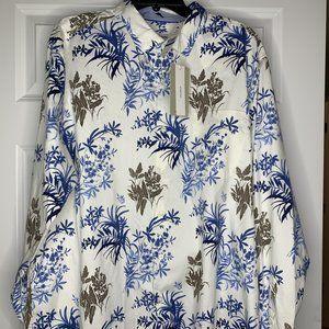 Tommy Bahama XL Silk Blend Floral Hawaiian Shirt